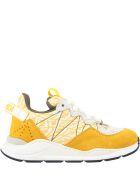 Fendi Multicolor Sneakers For Kids - Yellow