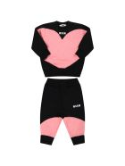 MSGM Multicolor Tracksuit For Baby Girl - Black