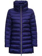 Save the Duck Blue Nylon Long Down Jacket - Blu