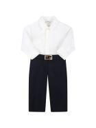 Fendi Multicolor Suit For Baby Boy With Logo - Multicolor
