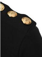 Balmain Black Cotton T-shirt With Bronze Logo Print - Nero