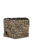 Jil Sander Shoulder Bag In Woven Raffia And Leather - Beige