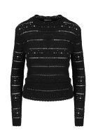 Saint Laurent Crochet Sweater - Black