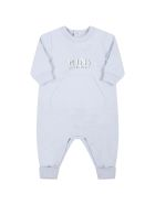 Givenchy Light Blue Babygrow For Baby Boy With Logo - Light Blue