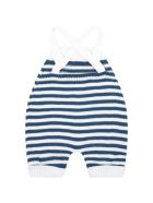 Little Bear Multicolor Dungarees For Baby Boy - White