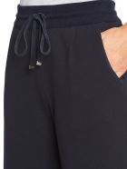 Kiton Trousers Cotton - NAVY BLUE