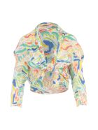 Pleats Please Issey Miyake Playing Cardigan - Multicolor