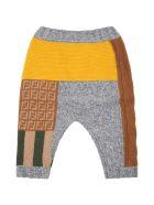 Fendi Multicolor Leggings For Baby Boy With Double Ff - Multicolor