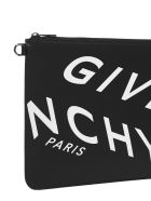 Givenchy Logo Leather Pouch - Black white