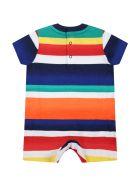 Ralph Lauren Multicolor Romper For Baby Boy With Pony Logo - Multicolor