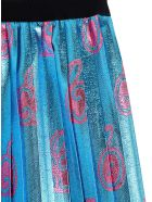 Gucci Gg Apple Lamé Jacquard Skirt - Light blue