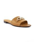 Salvatore Ferragamo Brown Leather Sandal - Cuoio