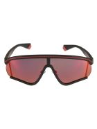 MSGM Polaroid Logo Sunglasses - Black