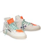 Off-White Off Court Leather High-top Sneakers - White