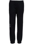 Givenchy Black Cotton Joggers With Logo Print - Black