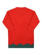 Stella McCartney Kids Red Dress For Baby Girl With Tulipan - Red