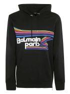Balmain Logo Print Hoodie - Multicolor