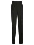 Dolce & Gabbana Regular Fit Plain Trousers - Nero
