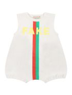 Gucci Beige Set For Babykids With Web Detail - Beige