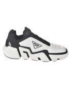 Prada Tecno Stretch Sneakers - Black/White