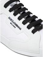 Dolce & Gabbana Portofino Sneakers In Nylon And Rubber With Logo - Bianco