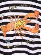 Alessandro Enriquez 'love-ster' Cotton T-shirt - Black Stripes