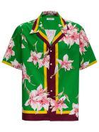 Valentino Cotton Shirt With Floral Print - Green