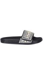 Jimmy Choo Fitz Slide With Pearl - Black