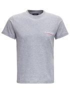 Balenciaga Grey Cotton T-shirt With Logo Print - Grey