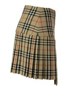 Burberry Zoe - Vintage Check Wool Kilt - Archive Beige