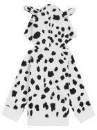Stella McCartney Kids Dalmatian Cotton Fleece Hoodie - White/black