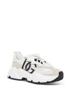 Dolce & Gabbana Daymaster Sneakers In Mix Of Materials - White