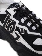 Dolce & Gabbana Daymaster Black And White Nylon Blend Sneaker - Black
