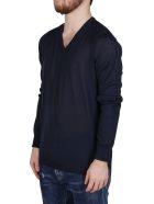 Giorgio Armani Blue Wool T-shirt - Blue