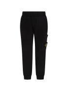 Stone Island Junior Black Sweatpant For Boy With Iconic Compass - Black