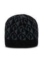 Marine Serre Moon Lozenge Hat In Viscose Blend - Black