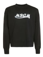 MSGM Chest Logo Print Sweatshirt - Black