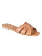 Saint Laurent Gathered Flat Sandals - Ambra
