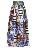 Dolce & Gabbana Flared Printed Skirt - Multicolor