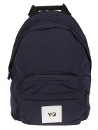 Y-3 Logo Patched Backpack - Blue