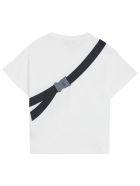 Fendi Jersey T-shirt With Front Belt Bag Print - White
