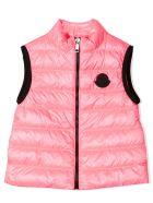 Moncler Pink Padded Gilet - Rosa