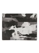 Dolce & Gabbana Logo Plaque Card Holder - Black/White/Grey