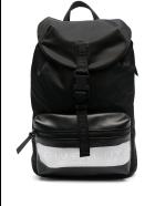 Givenchy Black Logo Panel Drawstring Backpack