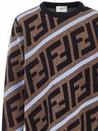 Fendi Kids Sweater - Brown