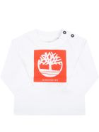 Timberland White T-shirt For Baby Boy With Tree - White