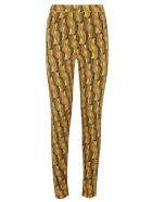 Prada All-over Pattern Printed Leggings - Mais/Bordeaux