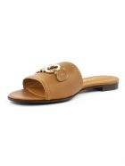 Salvatore Ferragamo Brown Leather Sandal - Cuoio