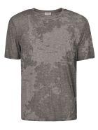 Saint Laurent Round Neck T-Shirt - Grey