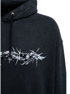 Givenchy Black Oversize Jersey Hoodie With Print - Black
